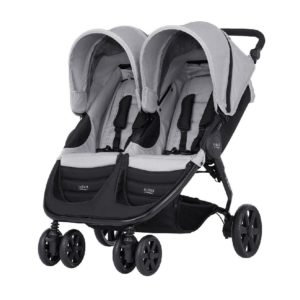 passeggino gemellare b agile plus britax steel grey black